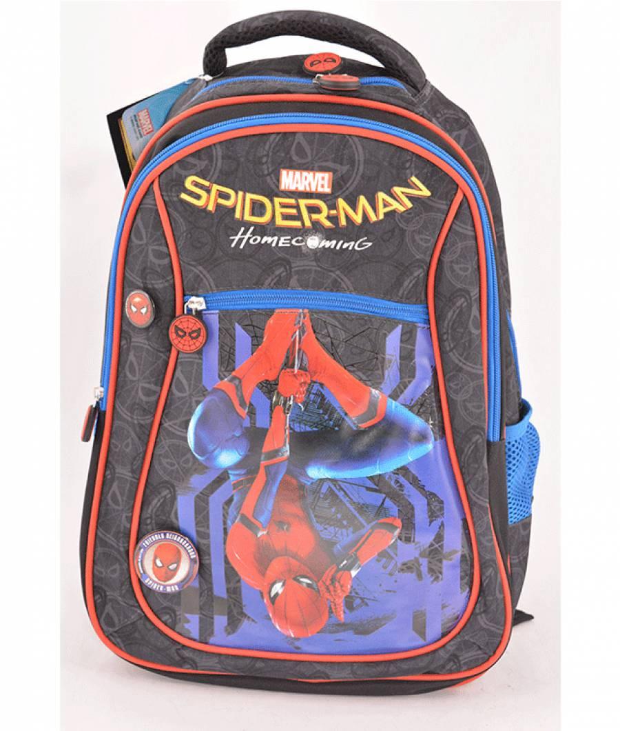 Ghiozdan, clasa 1/4, Spiderman Albastru Inchis