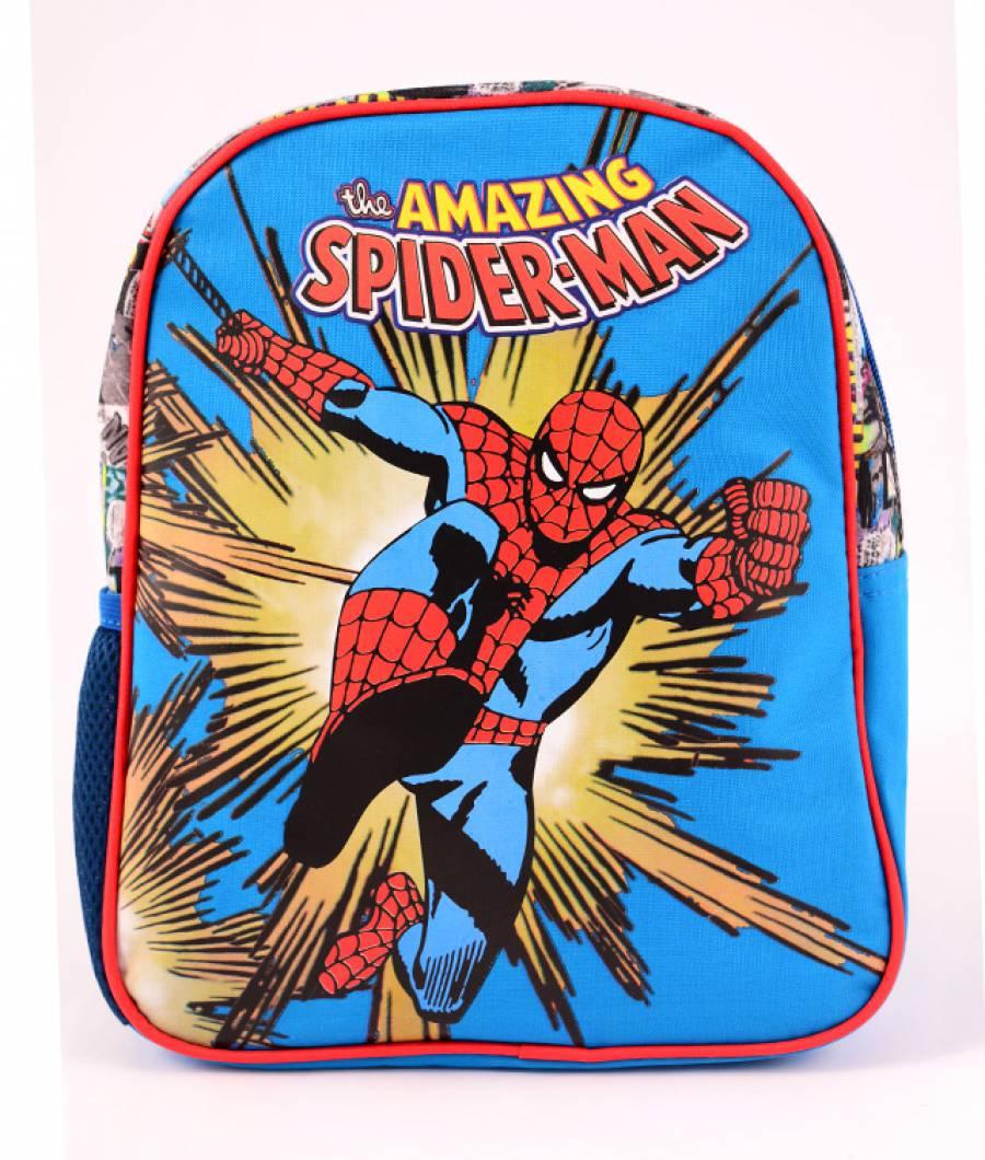 Mini-ghiozdan prescolari albastru Spider-Man Comics