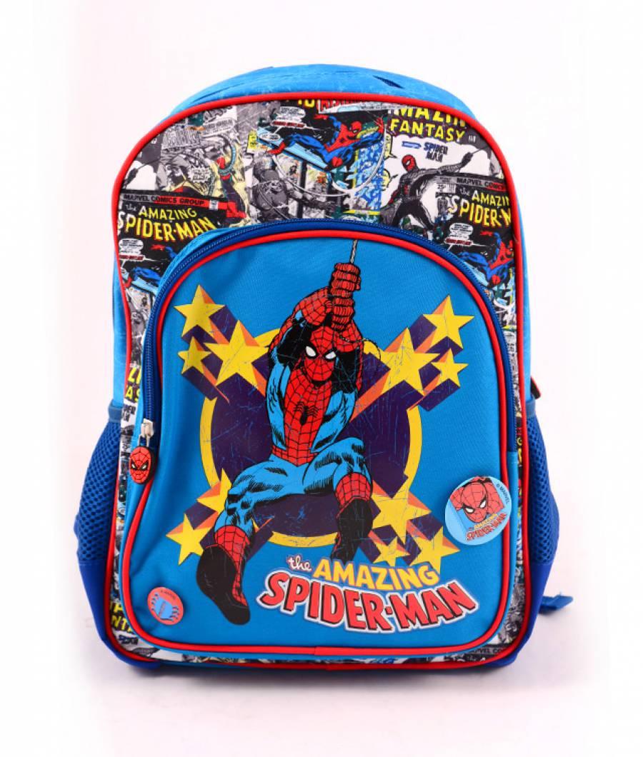 Ghiozdan Pregatitoare albastru Spider-Man Comics