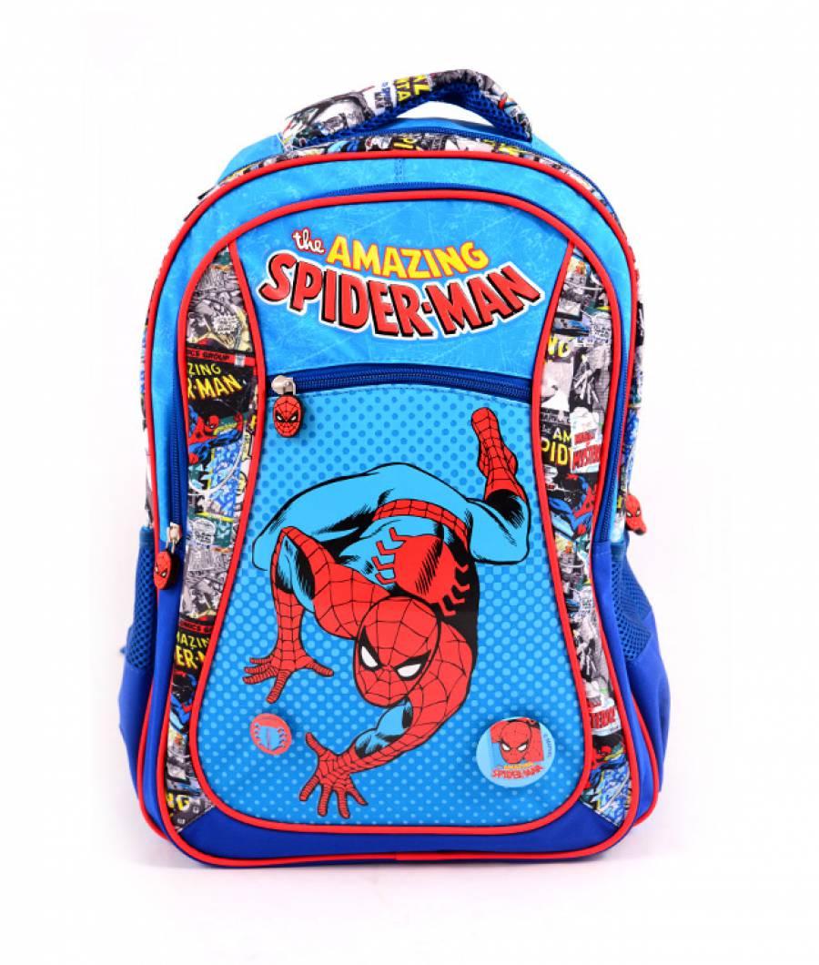 Ghiozdan clasa 1/4, albastru Spider-Man Comics
