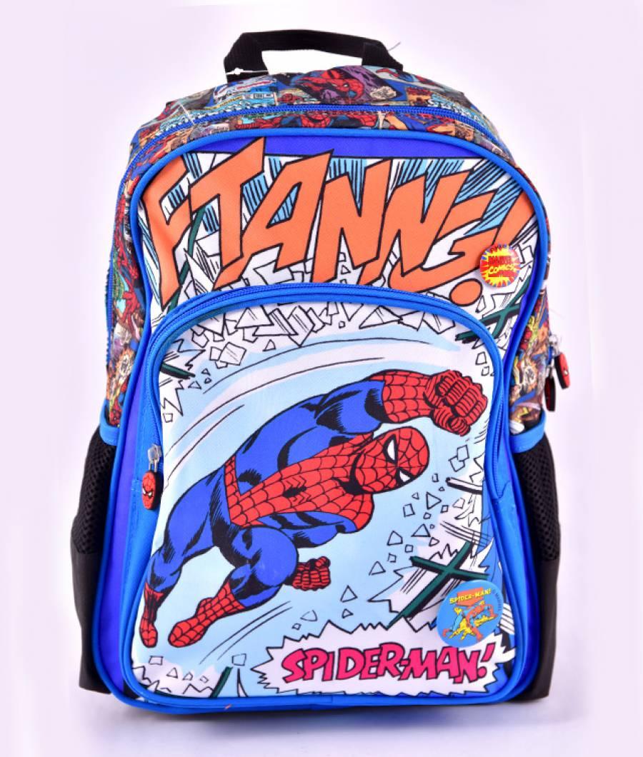 Ghiozdan preg?titoare albastru multicolor Spider-Man