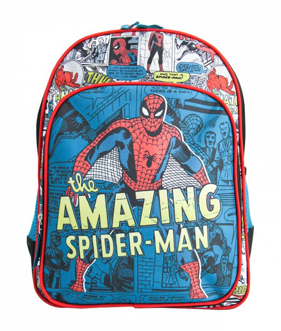 Ghiozdan Pregatitoare verde vintage MARVEL Spider-Man