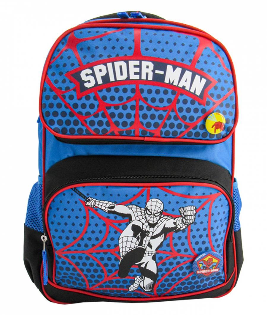 Ghiozdan clasa 1/4, negru-albastru MARVEL Spider-Man