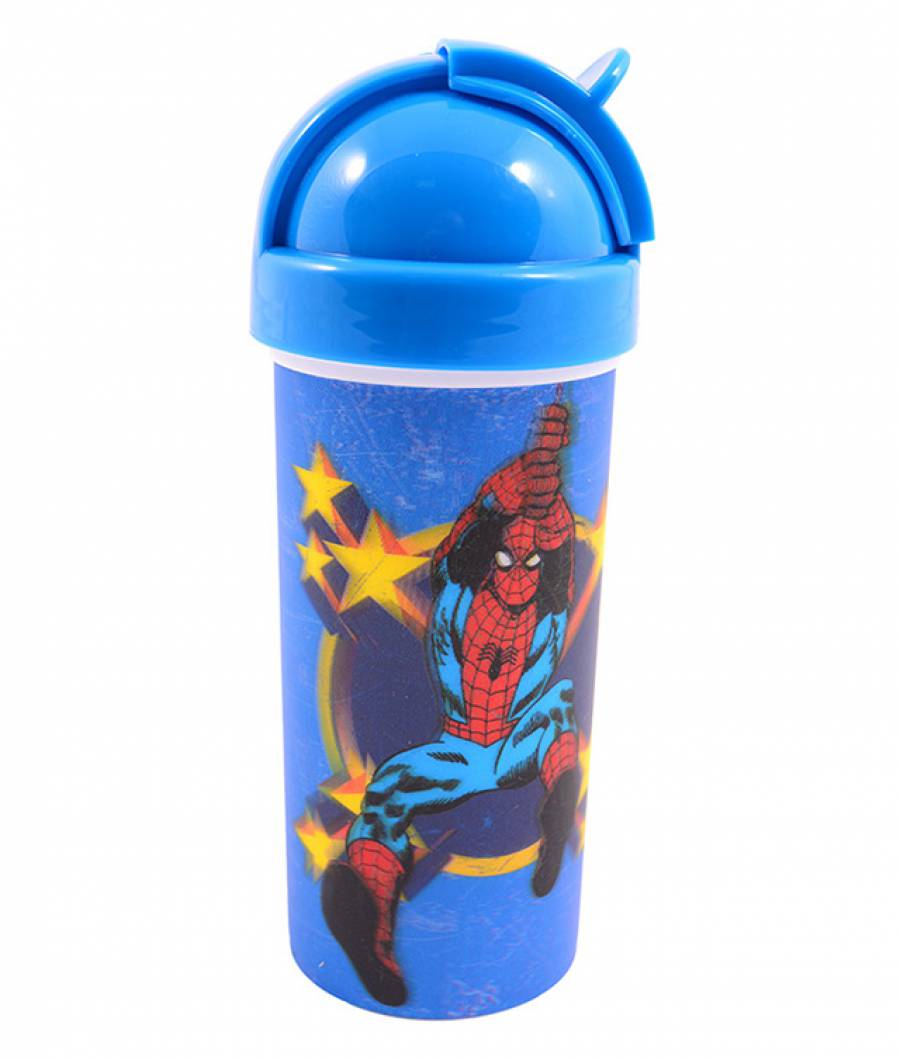 Sticla Lichide 380ml Spiderman din material plastic certifcat