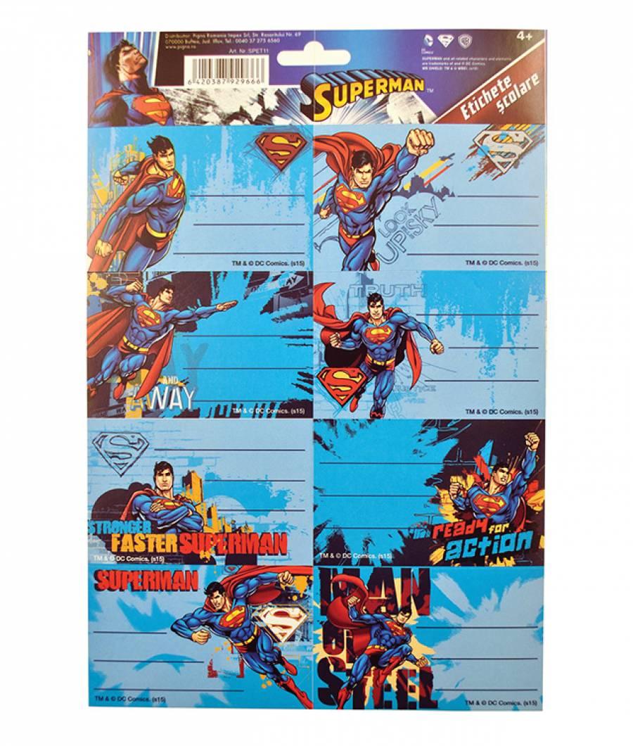 Etichete scolare 40/set Superman