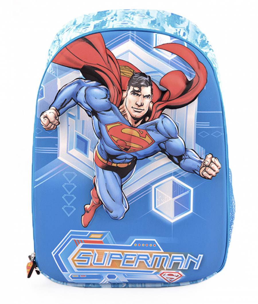 Ghiozdan, clasa 1/4, 3D, 1 fermoar, Superman