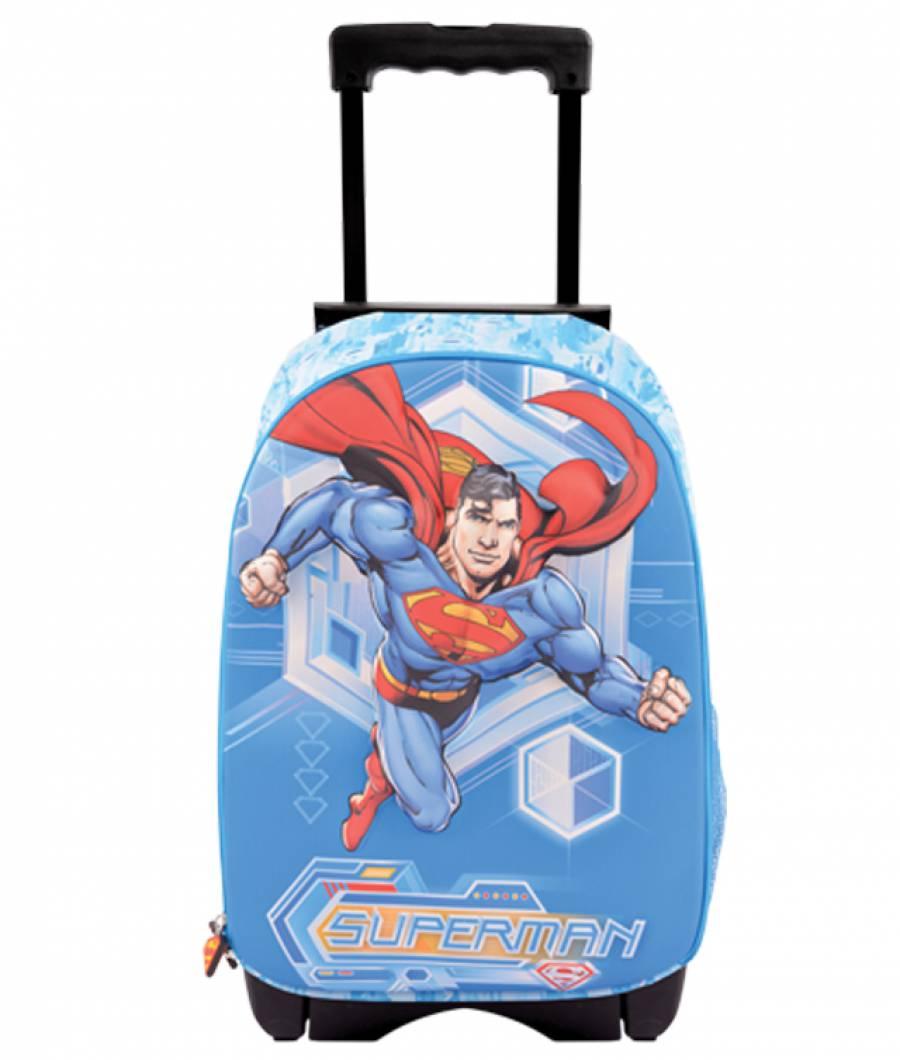 Ghiozdan Troller, clasa 1/4, 3D, 1 fermoar, Superman
