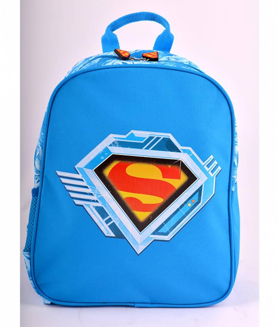 Ghiozdan Gradinita Simplu Superman Albastru