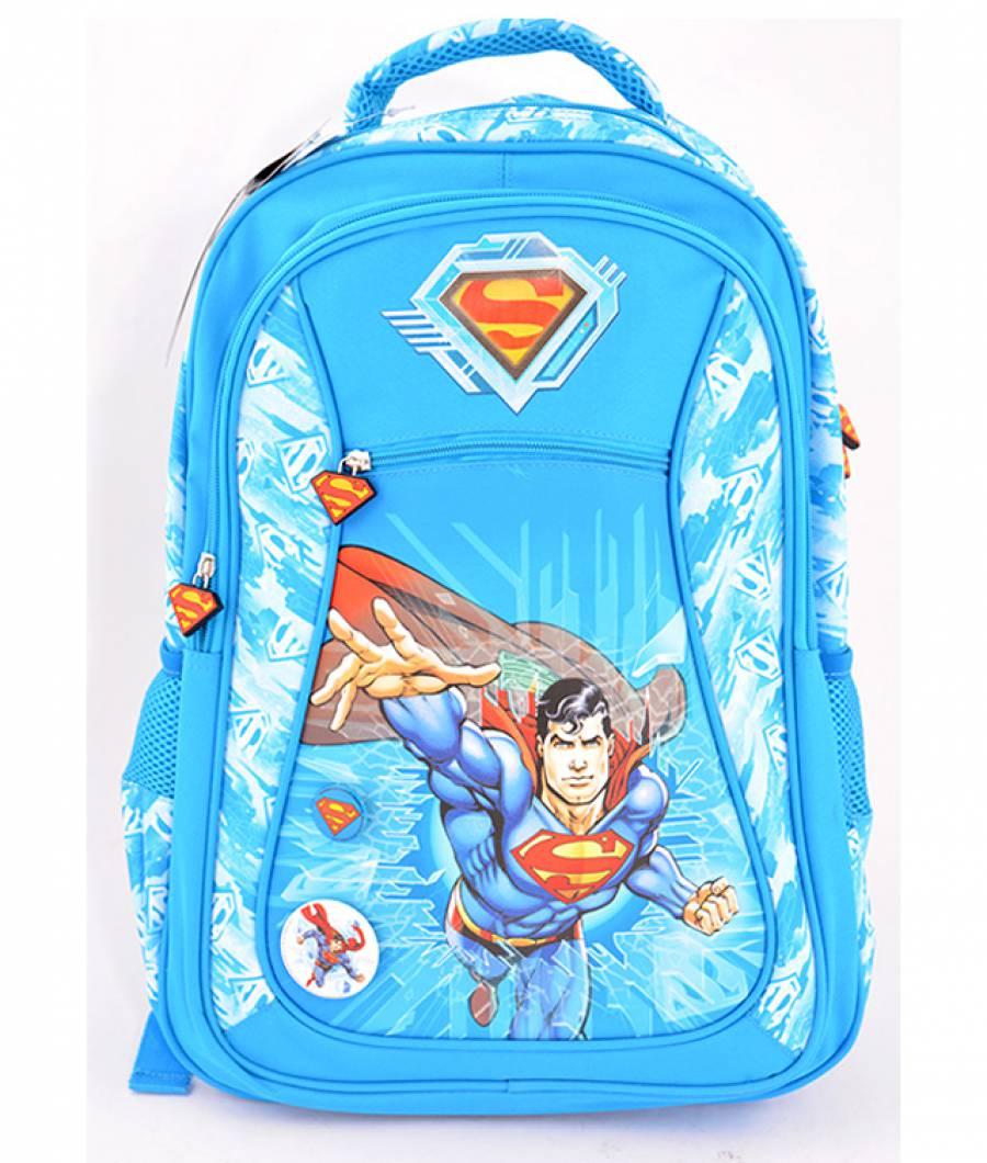 Ghiozdan, clasa 1/4, Superman Albastru