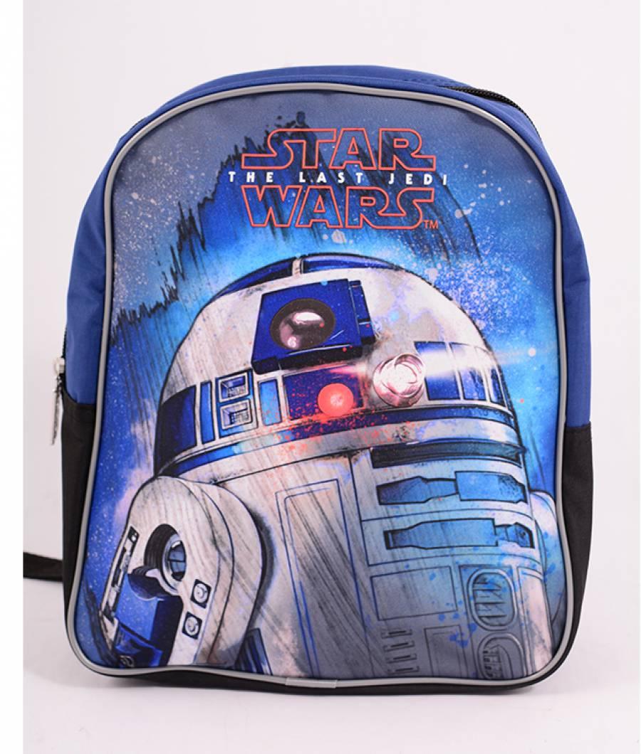 Mini-ghiozdan prescolari albastru-negru, Star Wars