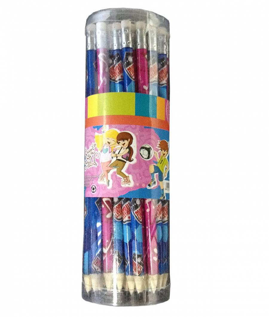 Borcan 40 creioane cu radiera 1-4
